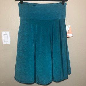 Honey and Lace l Ventura A-line Skirt l Teal SZ L
